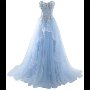 Dresses   Skirts - Womens Long Prom Dresses Beaded Formal Dress 4b9245b212
